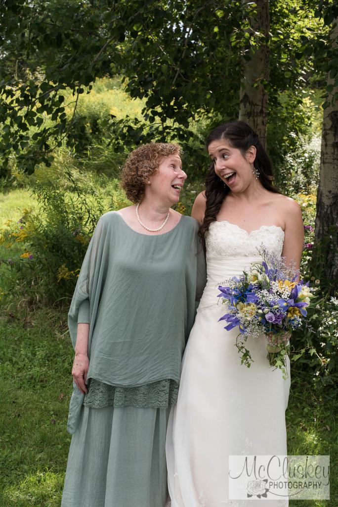 Canton NY backyard wedding